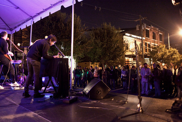The Pass performed to a sizeable crowd at the NuLu Festival.