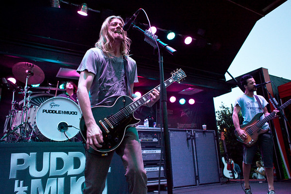 Kansas City based, post-grunge band Puddle of Mudd jammed to a packed audience at Phoenix Hill Tavern's Derby Eve Party. (By Marty Pearl, Special to the Courier-Journal) April 30, 2010