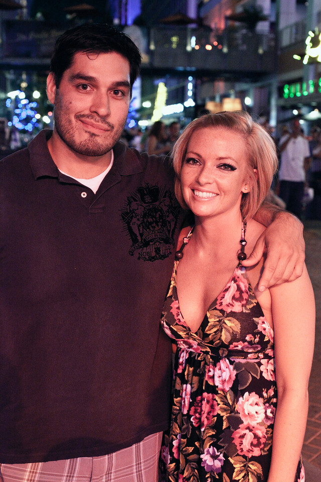 Albert Tartaglia and Stephanie Morris were in the crowd of country music fans.
