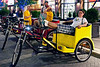 Joseph Kempf finds the Pedicab Service to be a little slow in a town full of Ironman contenders.
