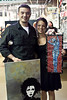 Shay Perna and Jacob Tankersky purchased some art at the South By South End Festival.