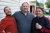 Bill Keith, Brian Dolle, and Jason Reigling laugh it up Germantown style.