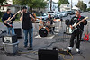 The hard rockin' band Dusty Attic played on Krieger Street in Germantown.