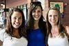 Whitney Ashurst, Emily Wickerham, and Erin Dunagan enjoy the atmosphere of Slugger Field.