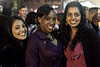 Rosemary Chowcillur, Cassandra Young, and Monsi Kachalia were all smiles as night fell.