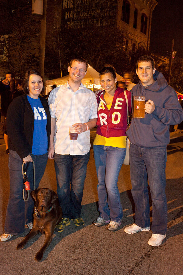 Joshua and Beth Graham, along with their dog Monty, join Stephania and Jeremy Clark for some good times alfresco.