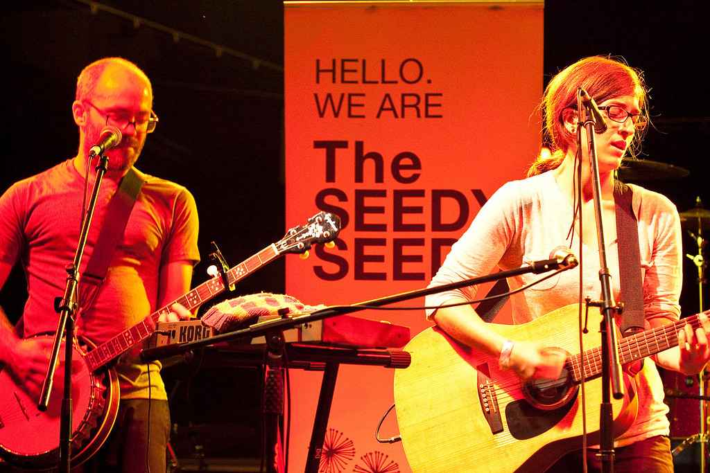 The Seedy Seeds were one of several bands to be featured on stage at the 3rd Annual NuLu Festival on East Market Street.