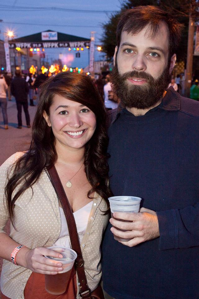 Jessica Dillree and Brandon Upchurch await the next band.