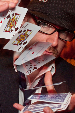 Smoketown magician Ryan Thompson shows off the tools of his trade.