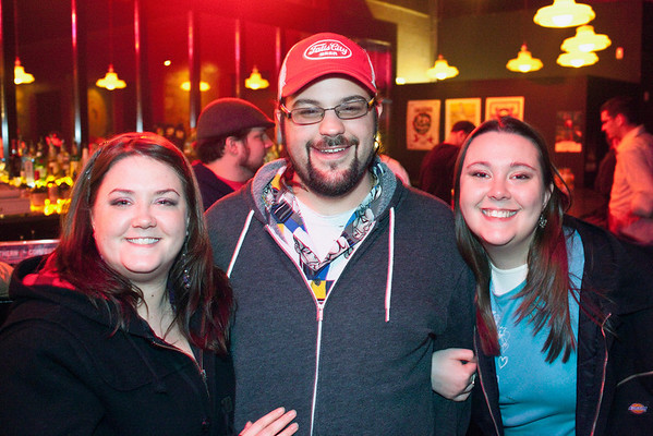 Sara Estes, Noah Best, and Becky Byrne came prepared with smiles.