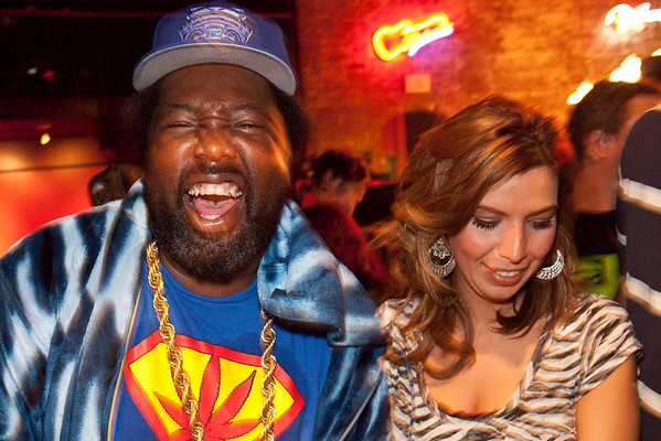 Afroman mixes it up with fans after the show at Headliners.