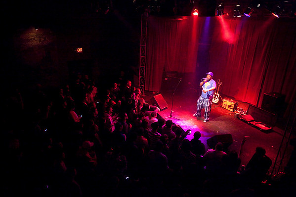 The intimate setting at Headliners was perfect for the one man tour de force known as Afroman.