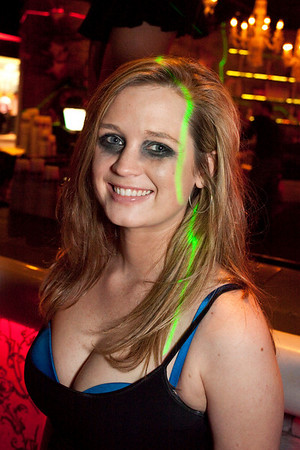 A chance to win Alice Cooper tickets meant appropriate eye make-up for the staff at Angels.