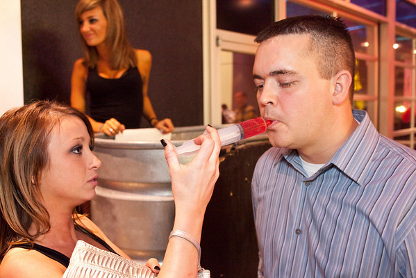 Shots are administered to the thirsty by the friendly servers of Angels Rock Bar.