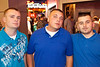 The boys in blue: Ricky White, Cody Christy, and Don Wayne.