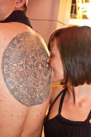 Monica Salkeld likes to take a bite out of a tattoo.