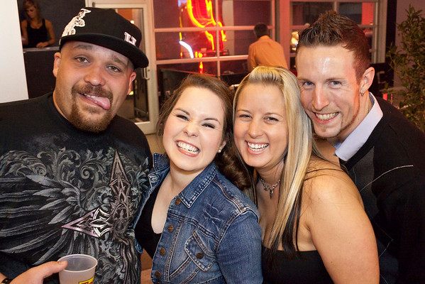 Casey Marrillia, Rebecca Creal, Laura Spainhour, and Justin Watson know how to party.