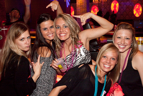 The zebra striped Katie McNeil celebrated her bachelorette status with Erin Heimbeck, Nicole LaFave, Ashley Shoopman, and Christy Schineler.