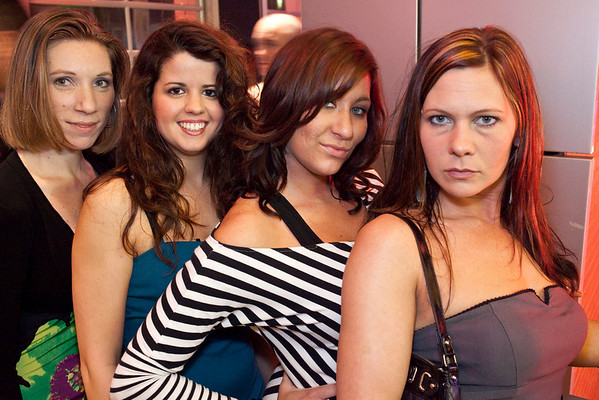 Angie Beeler, Jenny Carswell, Torie Kumher, and Kristina Challis employ a variety of facial expressions.