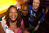 Arica Brown, Marvin Kinzer, and April Kellam party VIP-style at Hotel.