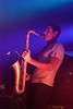 The Denver-based duo of sax player Dominic Lalli and drummer Jeremy Salken, otherwise known as the band Big Gigantic, played to a packed house at Headliners on Saturday night.