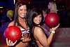 Samantha Magruder and Kayla Humfleet compete in Bikini Bowling at Fourth Street Live's Sports and Social Club on Thursday night.