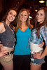 Jana Plant, Chelsie Crume, and Lauren Pfeiffer get together after the bowling.