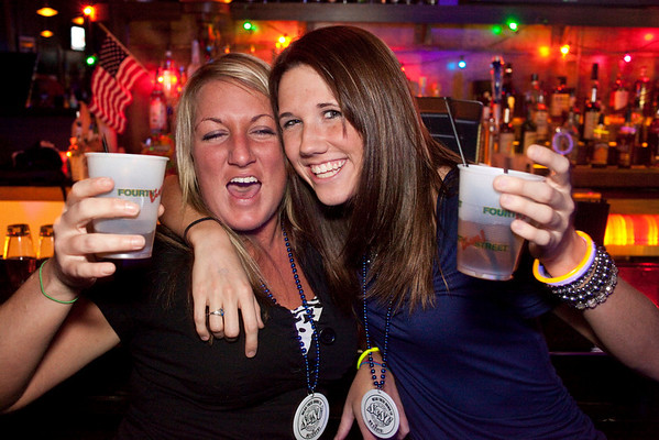 Nancy Ritt and Emily George know how to party.