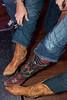Footwear defines the crowd.
