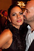 Karla Carr gets a smooch from Jeff Cohen.