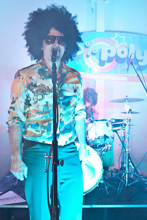 Retro-dance band 100% Poly kept the party moving with a stream of disco and pop classics for the hundreds on hand.