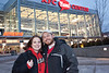 Matthew and Karen Fulkerson arrive early for the game (and celebrate Matthew's 30th birthday.)
