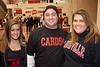 """Sandy Shepherd, Josh Shepherd, and Lindsey Shepherd sported the """"black-out"""" look for the game."""