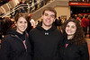 Alex Libbos, Will Fleck, and Rachel Gregor remembered to dress in black.