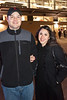 Roger Leverling and Brianda Rojas don't let the cold night ruin their fun.
