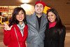 Mariana Reman, Alejandro Henriquez and Kara DeLost came for the goodtimes and to support the UofL Cards against DePaul on Saturday night.