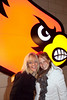 Vickie Meisner and Karen McAllister like the Cardinal in their shot.
