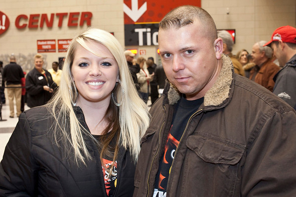 Jenna Gearlds and Randy Arnold were ready for some B-Ball.