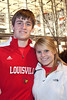 Cards fans Trent Tooley and Kaylin Stinson arrive at the Yum Center.