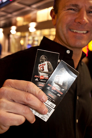 He was happy to finally find his tickets on a frigid night with few sellers.