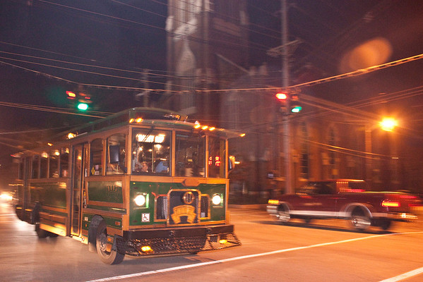 Scenes from the First Friday Trolley Hop on East Market Street for the month of October 2011.