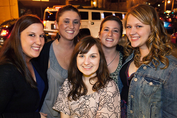 Megan Koenig (far right) celebrates her birthday with friends at the Outlook Inn.