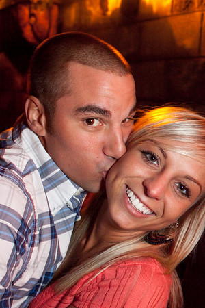 Justin Lynch and Trisha Henry celebrate good times in the Highlands on Friday night.
