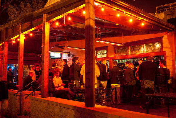 The back rooms of O'Shea's Tavern benefit from the crisp night air.