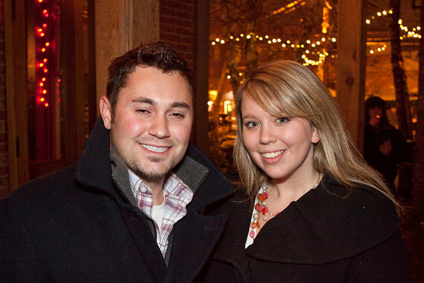 Daniel Cockerell and Abby Gibe get some fresh air at O'Shea's.