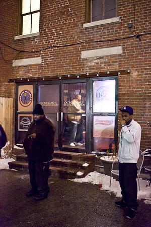 Donegan's was another bar that seemed to be unaffected by the snowy weather.