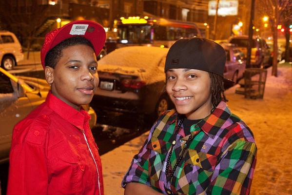 Shakara Miller and Sharonda Floyd  didn't let a little snow slow them down.