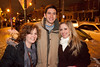 Minnesota natives Stephanie Lies, Russ Harpring, and Nicole Bieniek get in some partying Louisville-style.