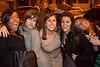 Annie Deskins (center) celebrates her birthday with pals on Baxter Avenue Friday night.