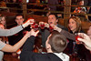 A group of partiers at Flanagan's raised a toast to celebrate the birthday of a friend.